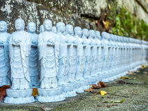 Little monk buddha statues Stock Images
