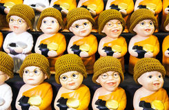Little monk dolls and Little nun dolls. Royalty Free Stock Image