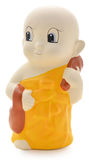 Little Monk Plaster. On white background royalty free stock photography