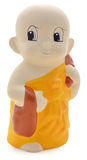 Little Monk Plaster. On white background stock photography