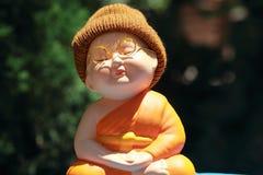 Little Monk Porcelain doll. Porcelain doll taken in my house Stock Photos