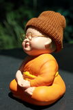 Little Monk Porcelain doll royalty free stock photography