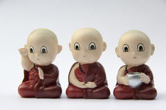 Little monk statue Royalty Free Stock Photos