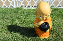 Little monk statue Royalty Free Stock Photography
