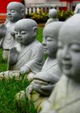 Little monk statues Stock Image