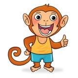 Little monkey. Happy little monkey saying good Stock Images