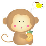Little Monkey Stock Image