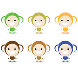 Little Monkey. The cartoon design of cute little monkey Stock Images