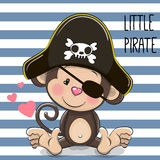 Little Monkey Pirate Royalty Free Stock Photography