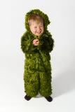 Little monster. Little green monster on a white background Stock Image