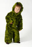 Little monster. Little green monster on a white background Royalty Free Stock Photo
