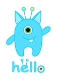 Little monster vector, Cute monster cartoon Stock Images