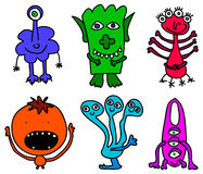 Little monsters. Illustration of 6 different monsters vector illustration