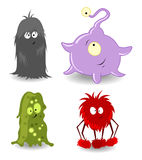Little monsters. Four Little monsters. Vector illustration Stock Image
