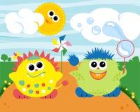 Little Monsters Illustration. Little cute monsters vector illustration Stock Images
