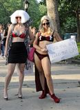 Little Monsters Lady Gaga Fans in Central Park Stock Image
