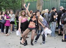 Little Monsters Lady Gaga Fans in Central Park Royalty Free Stock Photos
