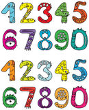Little Monsters Numbers Royalty Free Stock Photos
