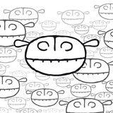 Little monsters (vector) Stock Photo