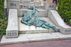 Little monument in bergues Stock Photos