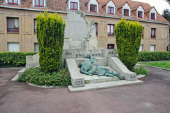 Little monument in bergues Royalty Free Stock Images