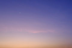 Little moon on sky sunset nature background Stock Photography
