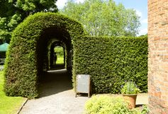 Little Moreton Hall Knot Garden. In Congleton, Cheshire Stock Images