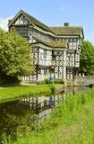 Little Moreton Hall. A moated half-timbered manor house built in the 16th century Royalty Free Stock Photos