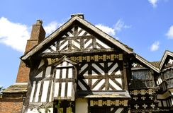 Little Moreton Hall. A moated half-timbered manor house built in the 16th century Stock Images