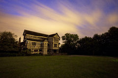 Little moreton hall at night Stock Images