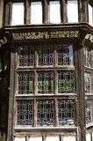 Little Moreton Hall stained glass windows royalty free stock photos