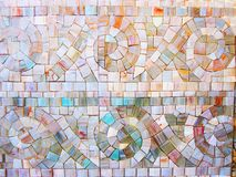 LITTLE MOSAIC STONES IN A ONE-SOME stock photography