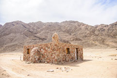 Little mosque. In the remote egyptian village Royalty Free Stock Image