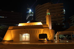Little mosque at night Stock Image
