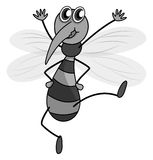 Little mosquito having arms up Royalty Free Stock Photography