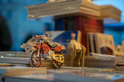Little motorbike in cracow Stock Images