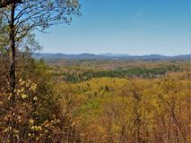 Blue Ridge Mountains from Fairy Stone State Park. The Little Mountain Falls Trail at Fairy Stone State Park provides views of the Blue Ridge Mountains in Royalty Free Stock Photography