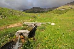 Little mountain fountain Stock Photography