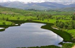Little mountain lake Stock Photography