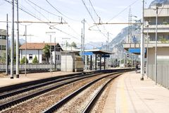 Little mountain rail station Stock Photography