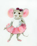 Little mouse-ballerina stock photos