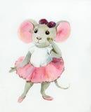 Little mouse-ballerina Stock Photos
