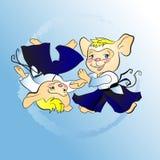 Little mouse boy aikido sketch Stock Photos