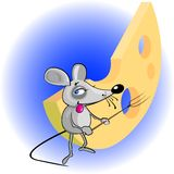 Little mouse-caricature Royalty Free Stock Photos