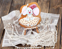 Little mouse - gingerbread Royalty Free Stock Photography