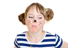 Little mouse girl  with funny face Stock Photography