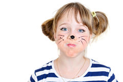 Little mouse girl  with funny face Stock Photo