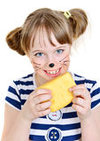 Little mouse girl Stock Photography