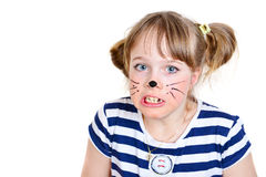 Little mouse girl Royalty Free Stock Image