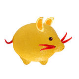 Little mouse, made of lemon and pepper. Stock Photo